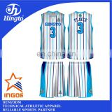 2016 latest design basketball uniform customized printing men's basketball uniform