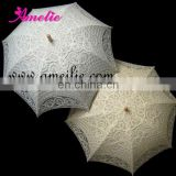 100% Handicraft UV Battenburg lace parasol umbrella
