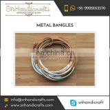 Metal Tube Made Bangles Available in Attractive Color and sizes