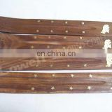 WOOD CARVED INCENSE SLED