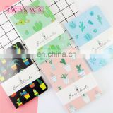 china stationery market cheap custom cute cactus design paper notebooks writing pads with company logo
