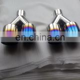 Colorful Stainless Steel Dual head Exhaust Tip