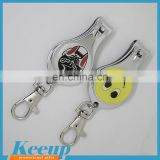 Advertising cheap smiling face stainless trim nail clippers