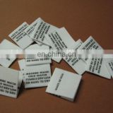 Garment Woven Label Care Label