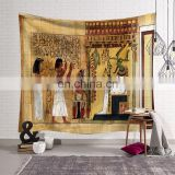 2020 fashion designer custom 3d digital printing ancient egyptian tapestry