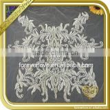 Wholesale neck embroidery appliques for Dress FHA-060                                                                         Quality Choice