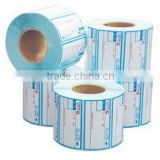 Direct factory high quality barcode thermal paper label roll with reasonable price