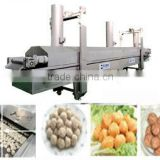 meat ball processing line fish ball frying machine