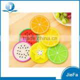 Fruit Design Cup Mat Table Placemat Silicone Rubber Coaster                                                                         Quality Choice