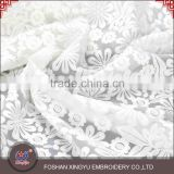 Factory Priced flower design white wedding decoration mesh netting fabric for wedding dress lace