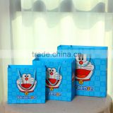 wholesale fashion hair extension packaging machine making doraemon printing cheap paper drawstring bags