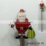 Wholesale cheap price santa claus metal card holder wall decoration, wall hanging business card holder
