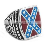 high quality fashion jewelry Classic American Flag Ring Stainless Steel Biker Men Ring men's personalized rings