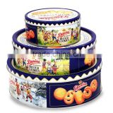 Custom food-grade round biscuit tin box set biscuit tin wholesale