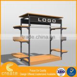 2016 shop furniture clothing metal steel rack with mdf/melamine board
