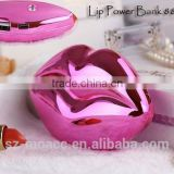 Manufacturer wholesale mobile phone power bank with Sexy Lip Mouth Design