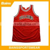 2014 custom sublimation custom basketball jersey black and red basketball jersey red color