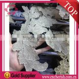 Made in china fashion fancy leaf shape embroidery designs China wedding lace african net lace fabric for dress                                                                         Quality Choice