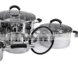 [Christmas gift] 10pieces stainless steel induction kitchen set with glass silicone cover/household