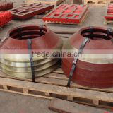 High wear resistance parts crusher bowl liner