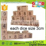 Children Preschool Formative Education Learning Set Wooden Dice Block Toy for Kids