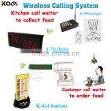 Electronic Kitchen Calling System Customer Ordering Food Device K-236+K-999+K-G4
