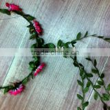 Boho Ladies Floral Flower Festival Wedding Garland Forehead Hair Head Band F1007