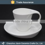 Wholesale small 80ml white ceramic personalized tea cups and saucers                                                                                                         Supplier's Choice