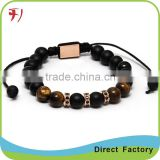 Tiger's Eye Gemstone Yoga bracelet meditation crown chakra citrine crystal lucky elephant bracelet fashion