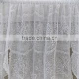 2015 cheap polyester warp knitting curtain valance swag