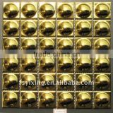 WT08 Golden ceramic electroplated glazed metallic mosaic luxury bathroom wall tiles                                                                         Quality Choice