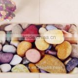 40*60cm loop pile printing carpet with anti-slip backing latex/tpr stone design nylon printing mat
