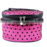 wholesale custom eco friendly satin cosmetic makeup bag with mesh