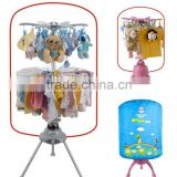 Foldable mini baby portable clothes dryer with 24 clips