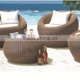Outdoor garden furniture rattan sofa set heated sectional sofa hotel furniture set antique round sofa B012