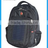 2015 OME hot sell solar charger backpack with solar panel