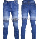 Wholesale china boy denim biker jeans trousers new model slim fit blue wash jeans pants for men