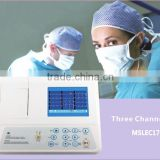 CE approved 3 channel ecg machine with 12 lead (MSLEC17)
