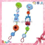 2015 Hot Sale Promotional Nipple Holder Wooden Baby Pacifier Clip                                                                         Quality Choice