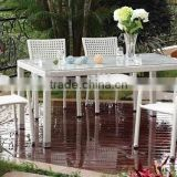 wholesale rattan wicker furniture,,restaurant dining set, chair and table,,dining-hall set