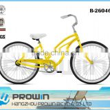"26"" mens beach cruiser bike adult beach cruiser bike standard beach cruiser chopper bike (B-26046)"
