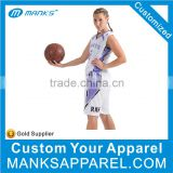 White And Purple Short Sleeve Women Basketball Jersesy