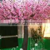 2016 China manufacture artificial cherry blossom tree plastic pink flower for decoration