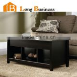LB-VW5091Modern black lacquer finished coffee table end table with shelf