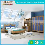 high quality painting wooden children bedroom set, child bed