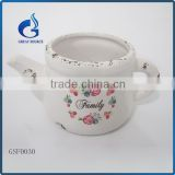 Teapot shape mini ceramic planter flower pots decorative                                                                                                         Supplier's Choice