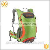 Good quality custom logo adjustable straps green water resistance polyester hiking bike backpack