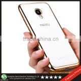 Samco Hybrid Shock-Absorption Electroplate Plating TPU Bumper and Anti-Scratch Mobile Phone Cover for Meizu M2 With Clear Back