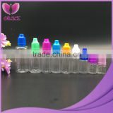 Wholesale ejuice bottles clear plastic eliquid dropper 30ml pet bottle with colorful tamper evident cap