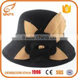 Wholesale womens fedora hat wool oktoberfest fedora hat with flower bow